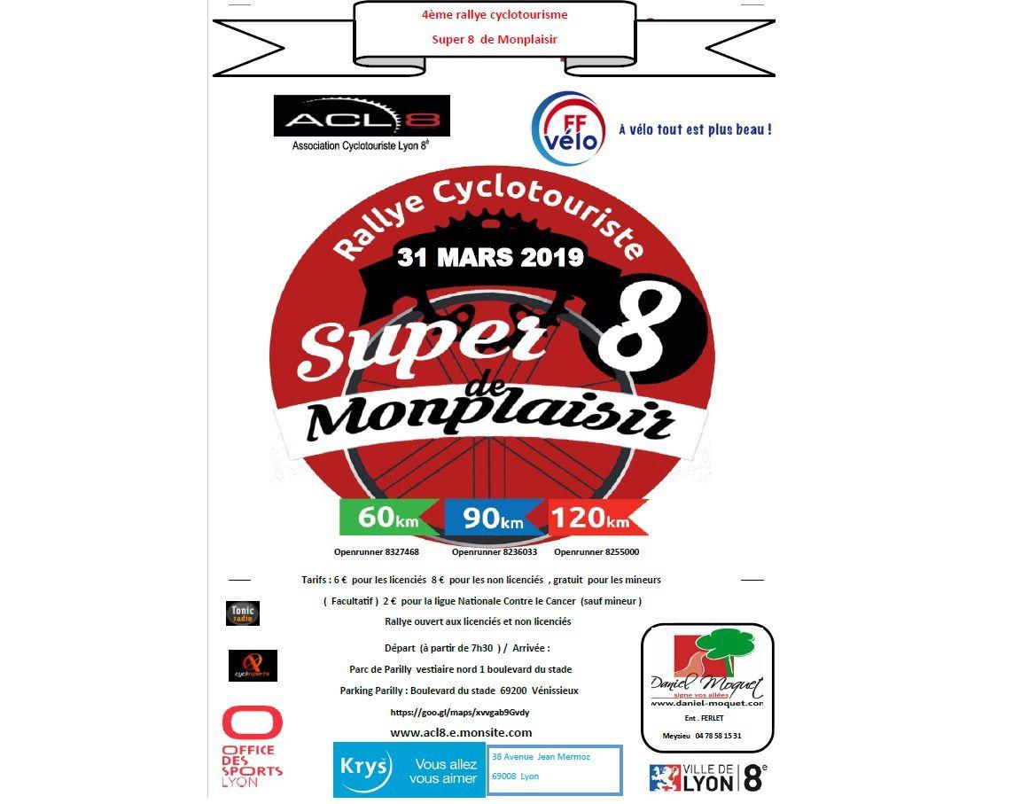 Rallye de Montplaisir  Dimanche 31 Mars 2019