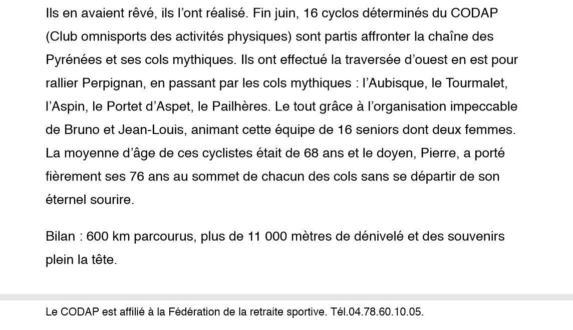 """La traversée des Pyrénées sur """"Le Progrès"""""""