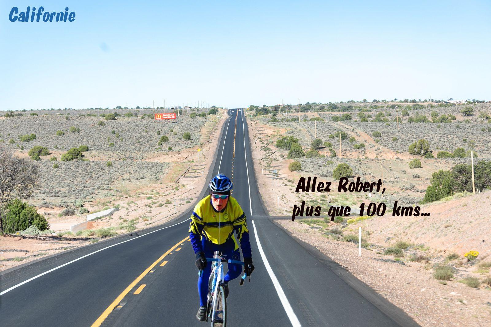 Robert dans le désert  s'entraine pour un 200km découverte