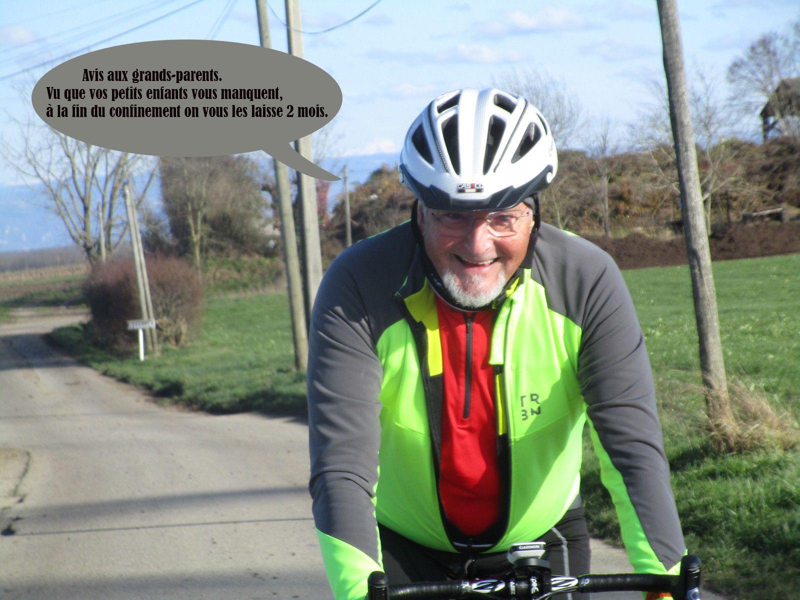 Gilbert avec le sourire sur son superbe vélo