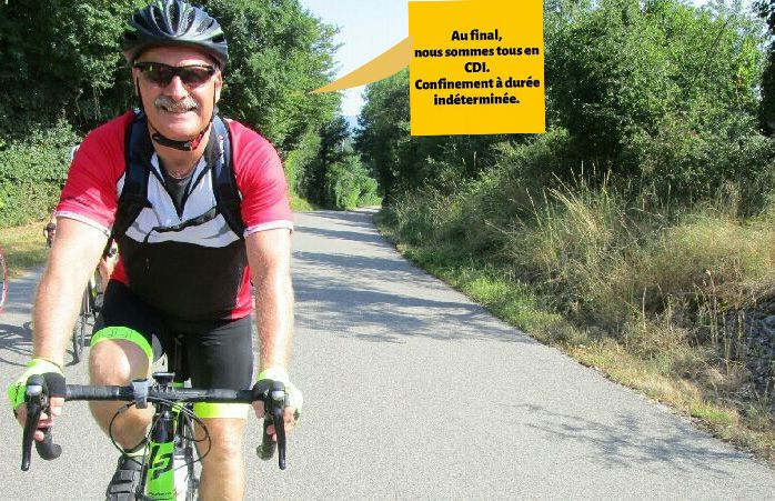 """Le champion et grimpeur Gilles avec Jean le""""faux barbu"""""""