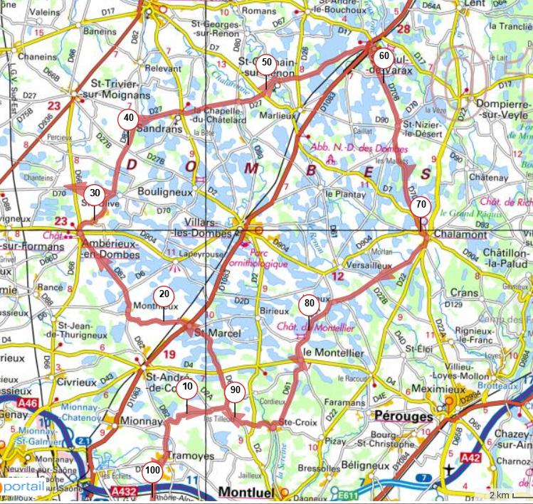 Les 100 km du Mas Rillier  Lundi 29 juin 2020