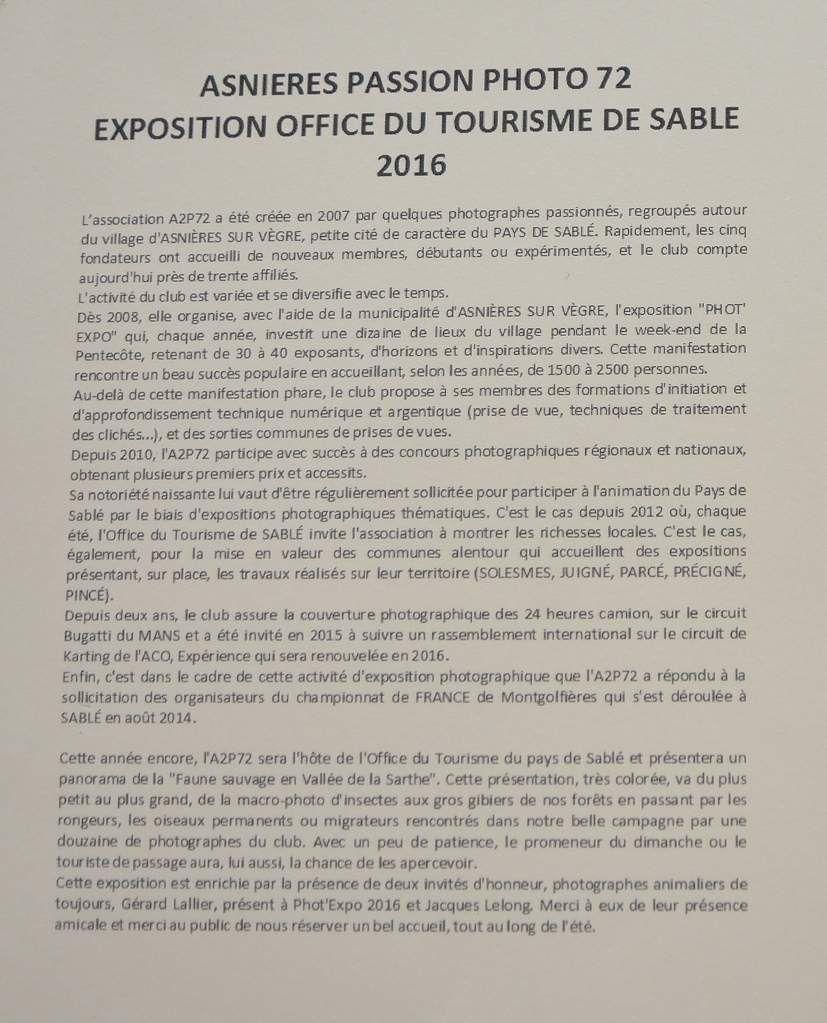EXPO PHOTOS SABLÉ SUR SARTHE