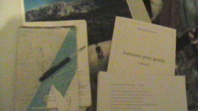 """Eh oui, j'écris au """"bic"""", dans mon cher cahier de brouillon.."""