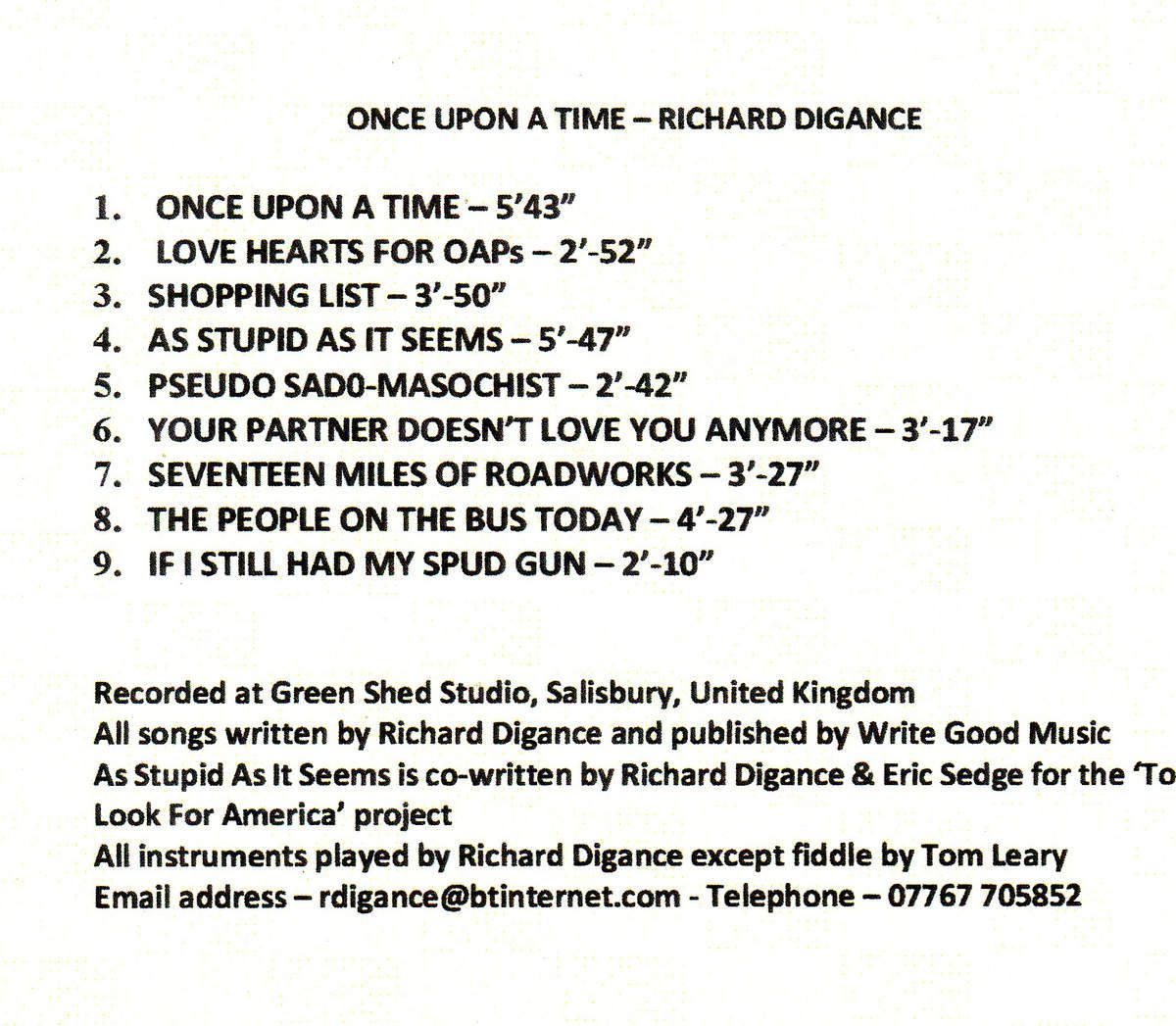 "Richard Digance  ""Once upon a time"""