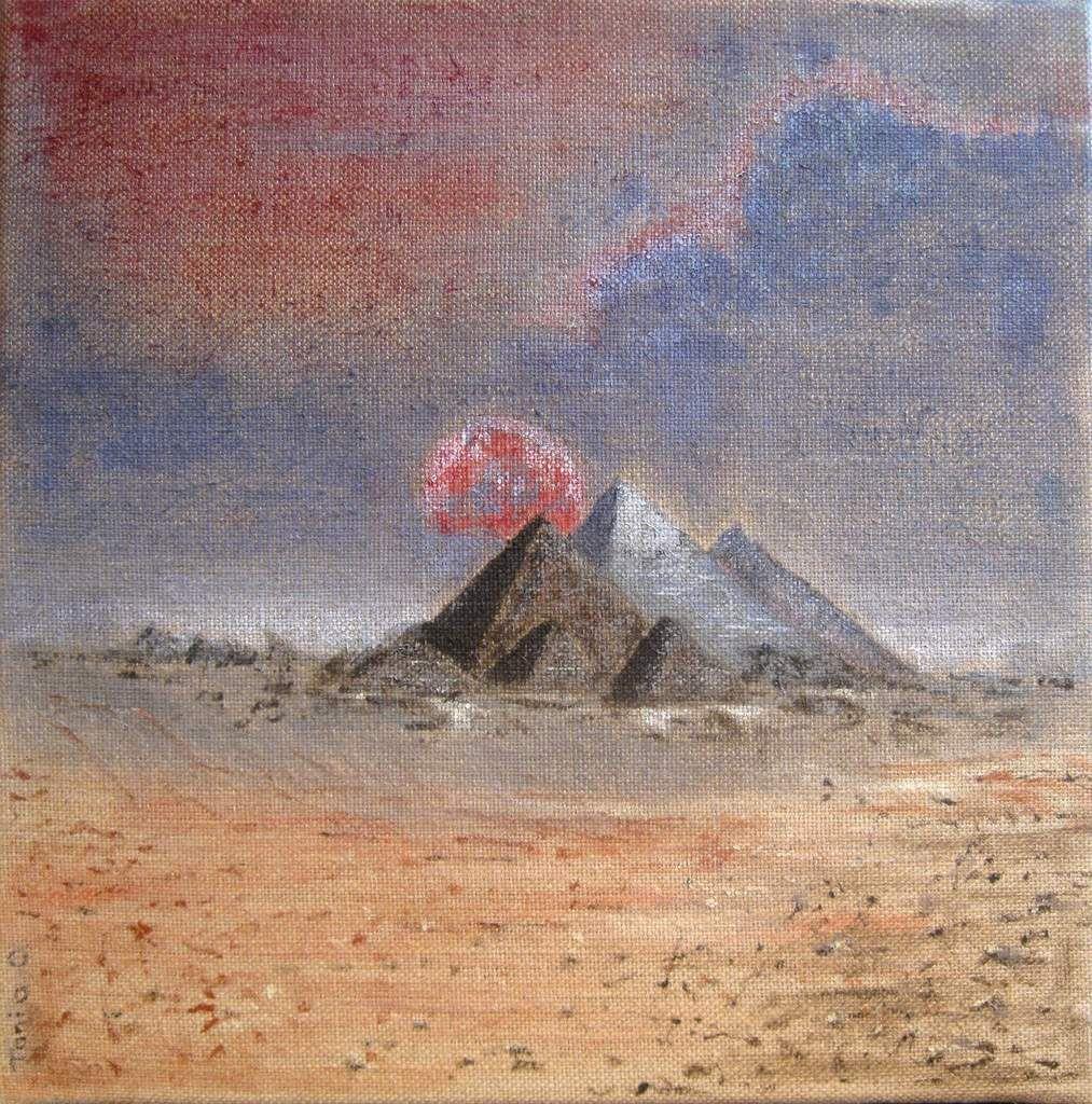 Acrylique sur toile de jute 40 x 40 cm