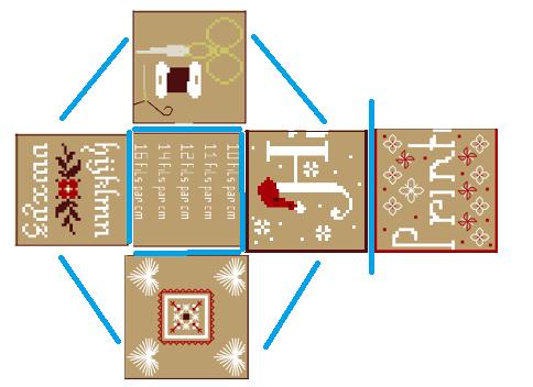 attention , chaque carré doit être placé exactement comme sur l'image