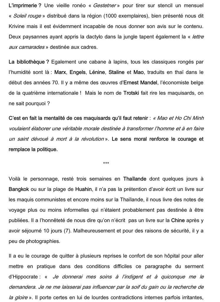 A175. Jean-Michel Krivine : « Carnets de mission dans les maquis thaïlandais (1978)».