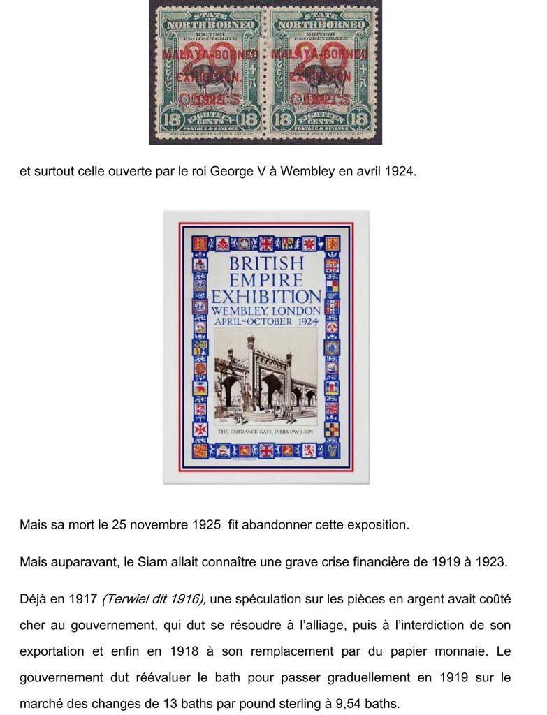 172. Rama VI et l'économie du Siam. (1910-1925)