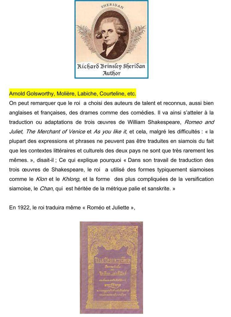 173. Rama VI, écrivain, traducteur, journaliste, promoteur de la littérature au Siam.