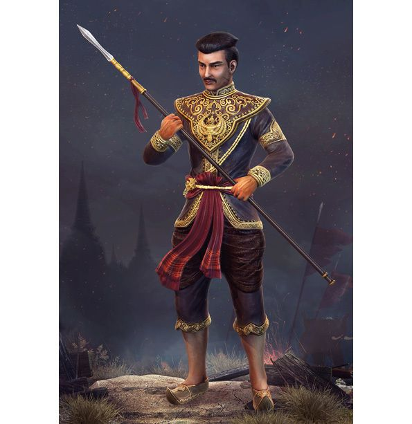 RH 19 - RAMATHIBODI Ier, LE FONDATEUR DU ROYAUME D'AYUTTHAYA. (1351-1369)