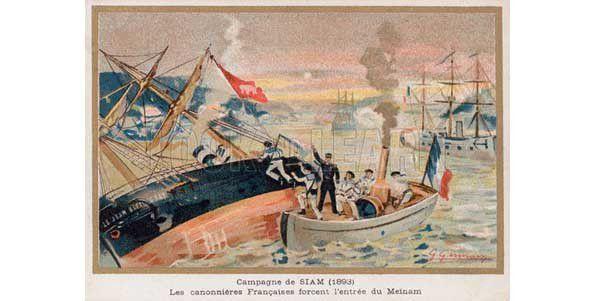 H16 - LA « MARCHE DU MÉKONG », UNE VICTOIRE DU CAPITAINE LUC ADAM DE VILLIERS SUR LES SIAMOIS EN JUILLET 1893.