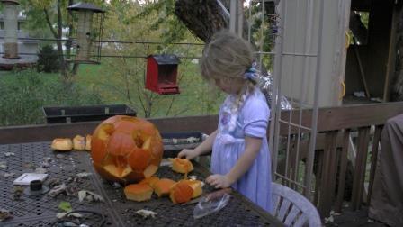 citrouilles scuptees pour Halloween