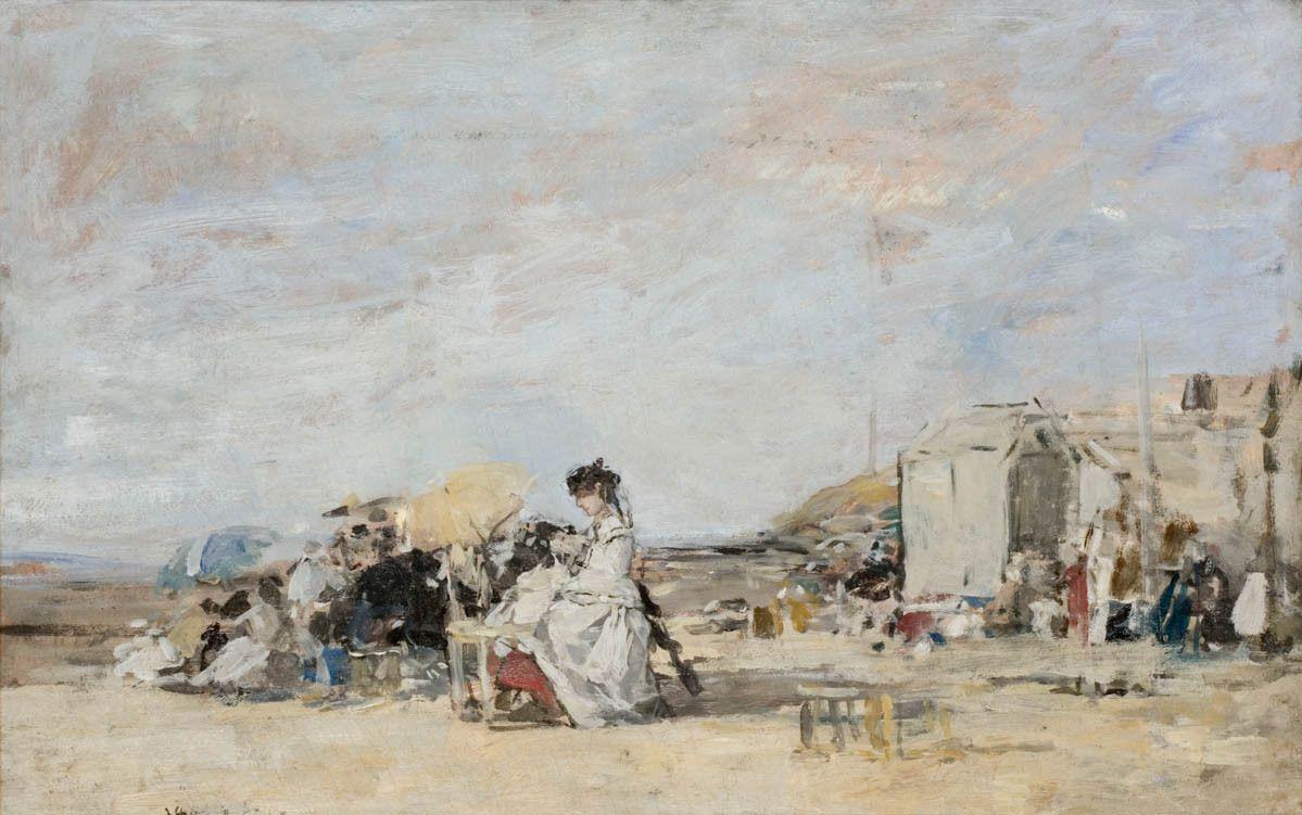 Boudin - scène de plage - 1863