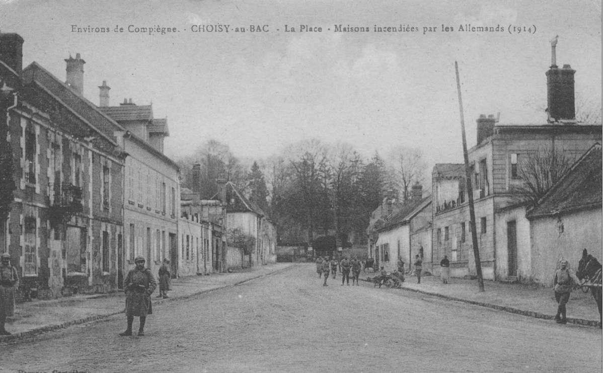 Album - le village de Choisy-au-Bac (Oise), les destructions de la Guerre