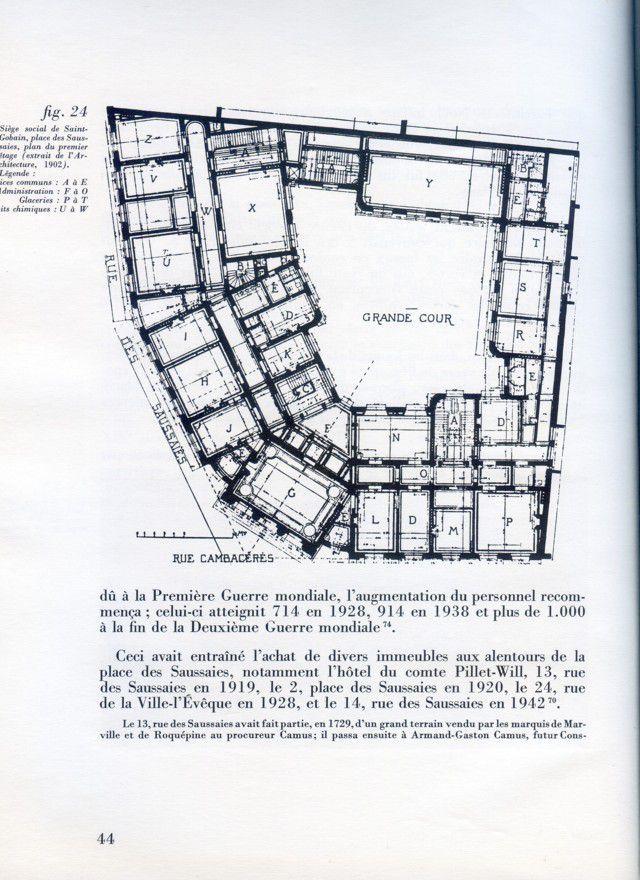 Album - groupe Saint-Gobain, les sièges sociaux de Saint-Gobain de 1665 à 1960