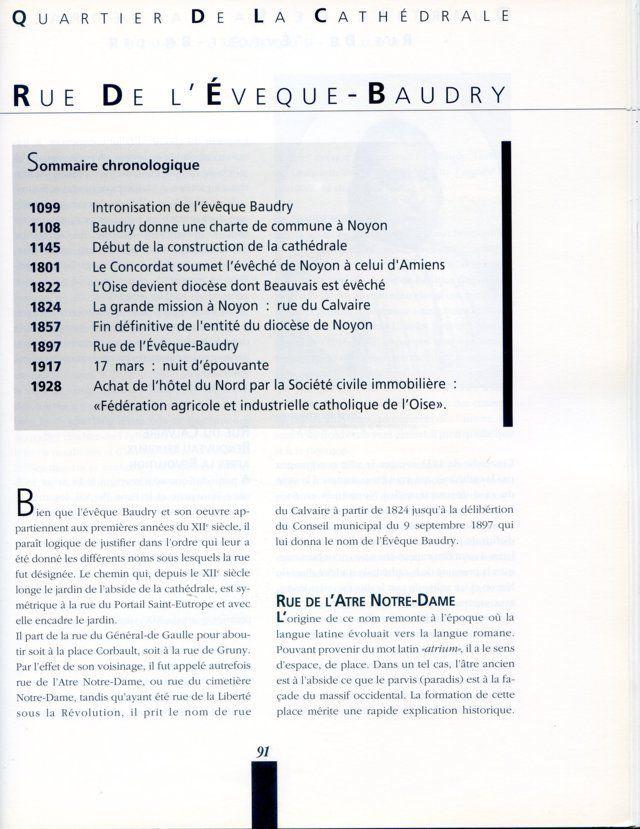 Album - la ville de Noyon, historique de ses rues ( début )
