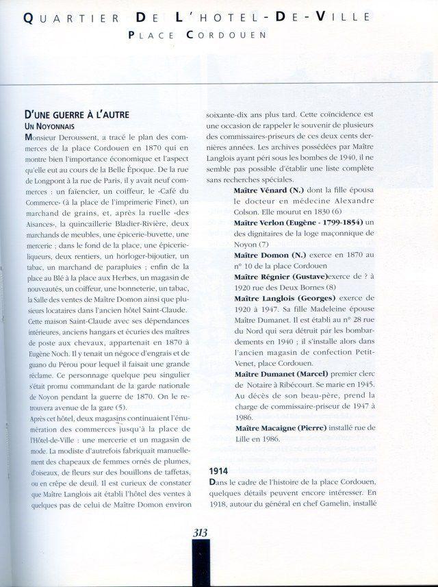 Album - la ville de Noyon, historique de ses rues ( suite 3 )
