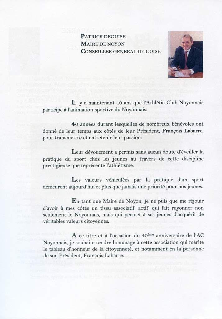 Album - la ville de Noyon ( Oise ), l'Historique de l'Athlétic-club Noyonnais