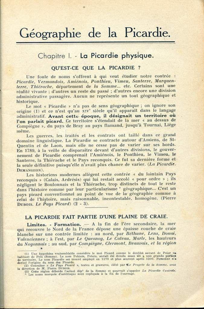 Album - la Picardie, sa Géographie et son Histoire
