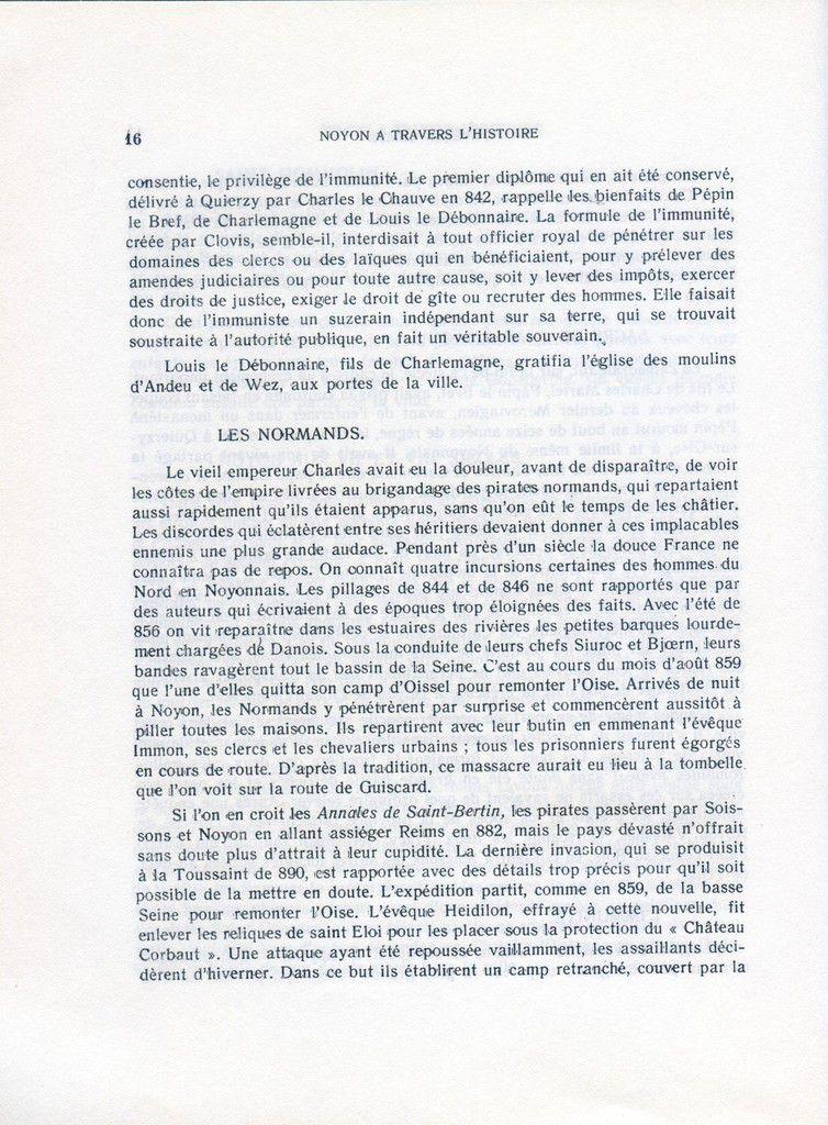 Album - la ville de Noyon ( Oise ), à travers l'Histoire, des origines à la guerre de cent ans
