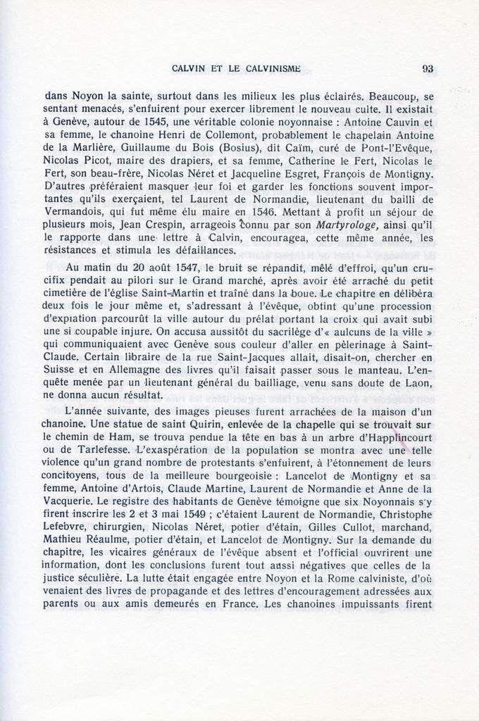 Album - la ville de Noyon ( Oise ), à travers l'Histoire, le Calvinisme et ville de souvenirs et de garnisons ( Noyon au XIX siècle )