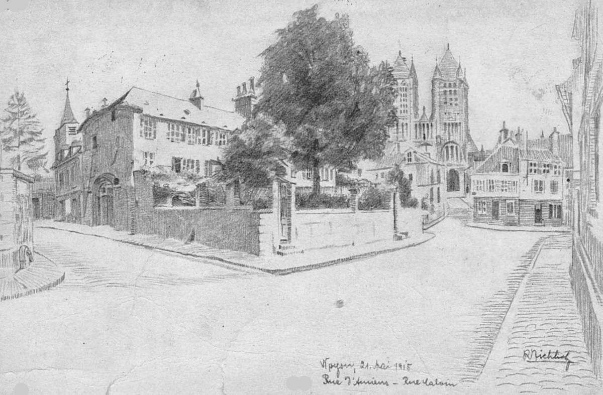 Album - la ville de Noyon (Oise), les rues des Merciers et d'Amiens