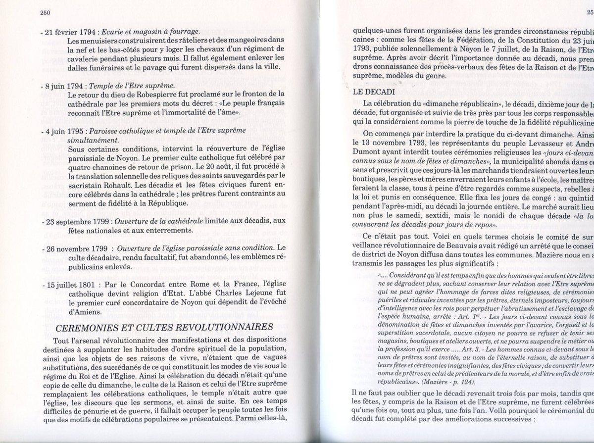 Album - la ville de Noyon (Oise), dans la tourmente révolutionnaire, l'acharnement (4ème partie)