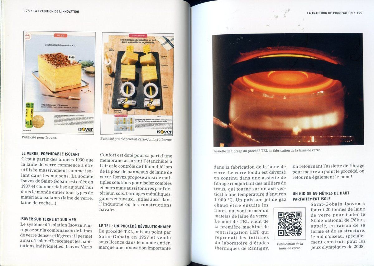 Album - groupe Saint-Gobain, 1665-2015 le passé du futur, la tradition de l'innovation ( chapitre V )