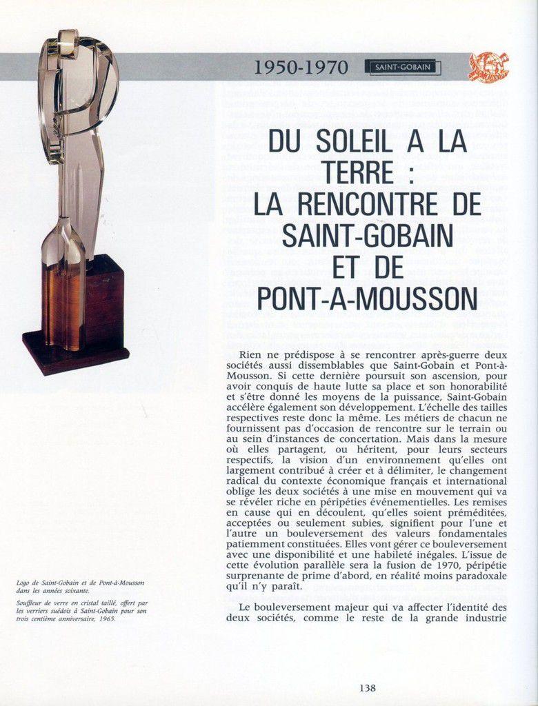 Album - groupe Saint-Gobain, du Soleil à la Terre, 1950-1970 la rencontre Saint-Gobain et de Pont-a-Mousson ( chapitre VII )
