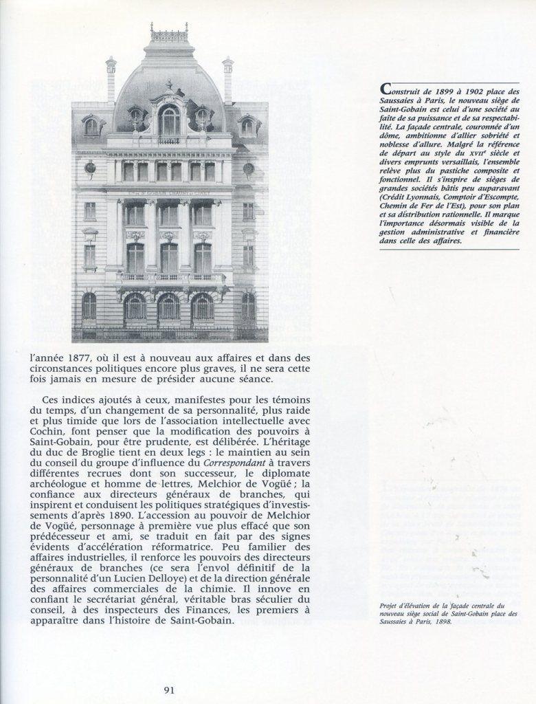 Album - groupe Saint-Gobain, du Soleil à la Terre, 1875-1914, les fruits d'un brillant XIX siécle ( chapitre IV )