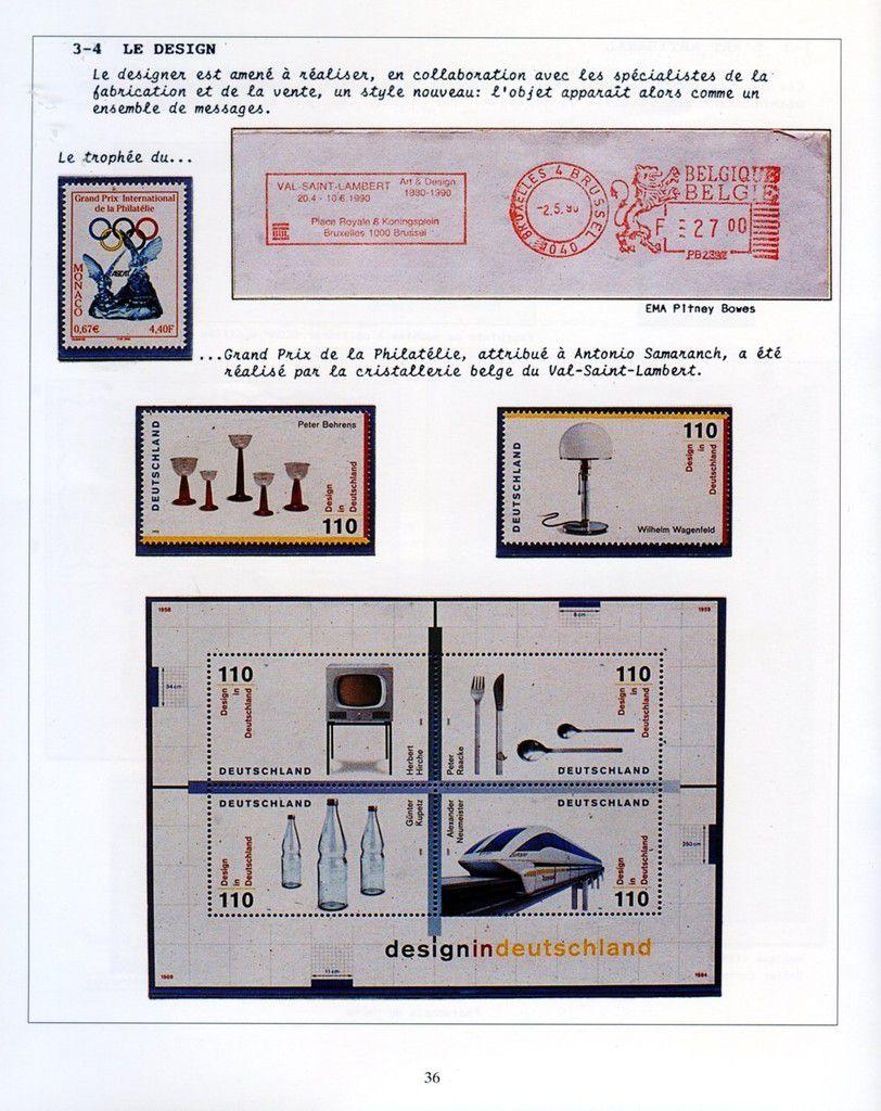 Album - groupe Saint-Gobain, l'Histoire du Verre au travers de Timbres et Flammes postales