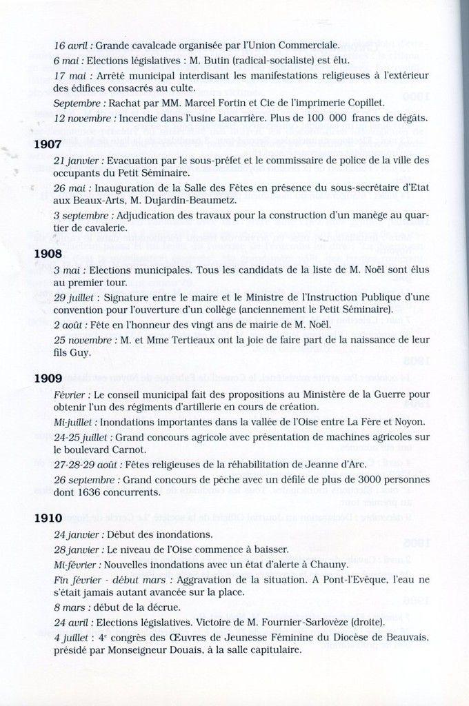 Album - la ville de Noyon (Oise), à la Belle Epoque, la vie économique et social ( chapitre I )