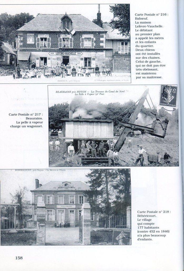 Album - la ville de Noyon (Oise), à la Belle Epoque, les villages autour de la ville, ( chapitre IV )