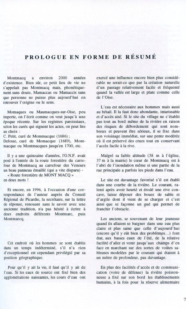 Album - le village de Montmacq-sur-Oise, un Siècle au fil de l'eau ( 1ère partie )