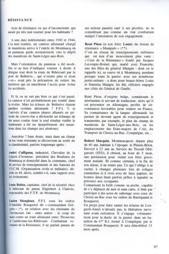 Album - le village de Montmacq-sur-Oise, un Siècle au fil de l'eau ( 2ème partie )