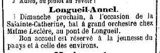 Album - le village de longueil-annel (Oise), au fil des jours et des mois, des années 1800 et 1900