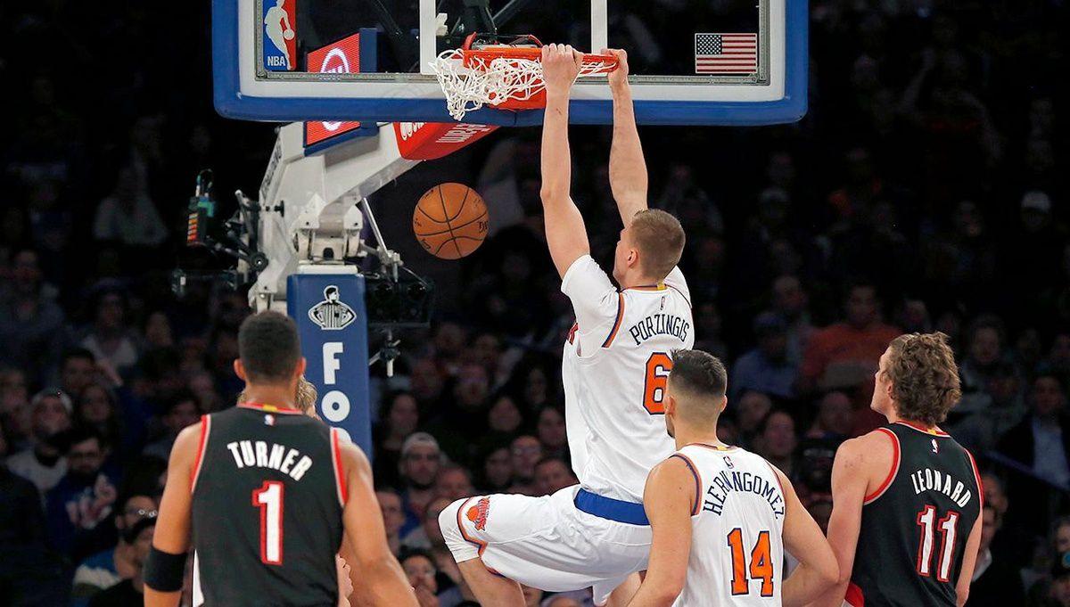 Les Knicks dominent Portland