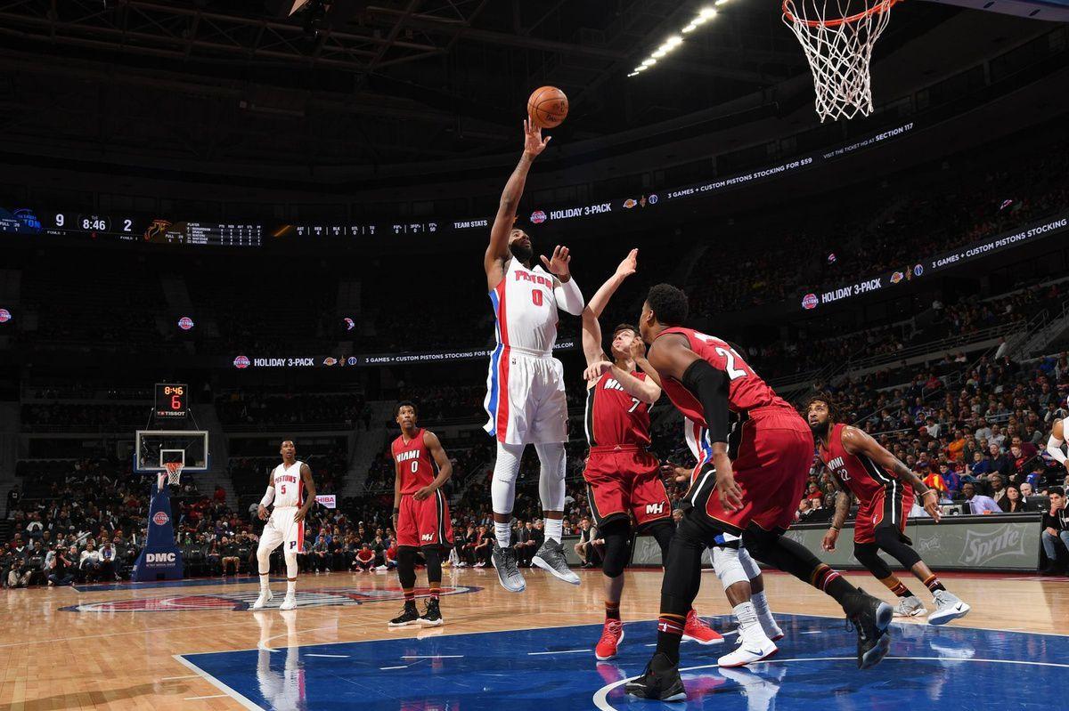 Andre Drummond guide Detroit face au Heat