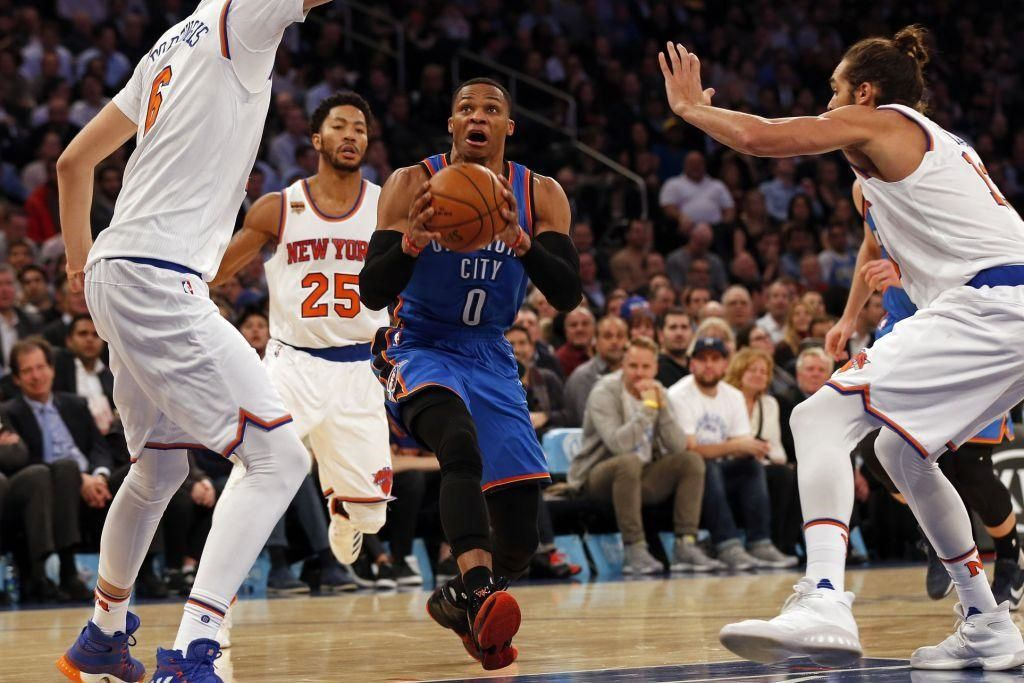 Russell Westbrook voit triple au Madison Square Garden