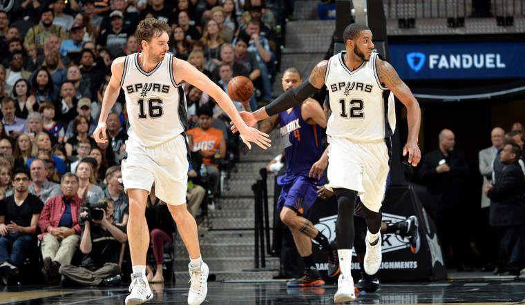 Sans Kawhi Leonard, les Spurs s'imposent facilement contre les Suns