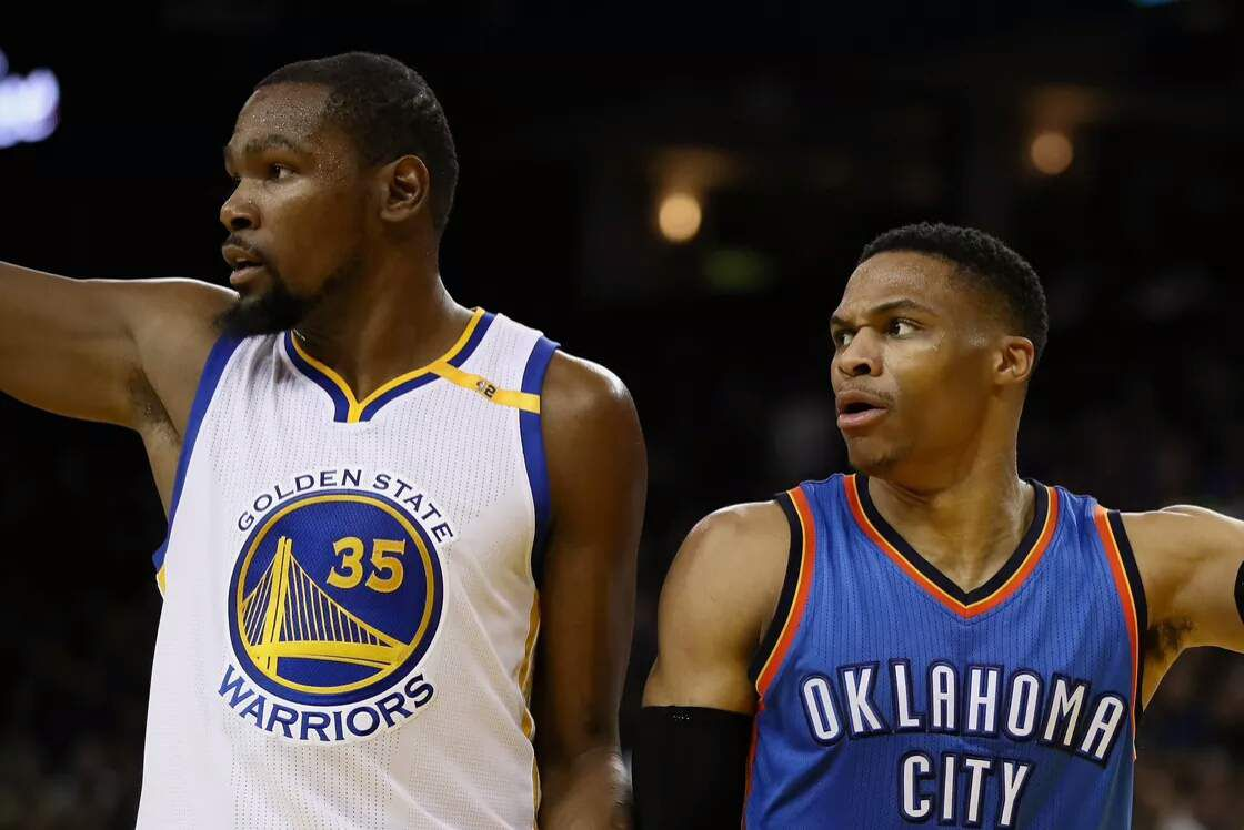 Kevin Durant et Russell Westbrook (Source d'image:Getty)