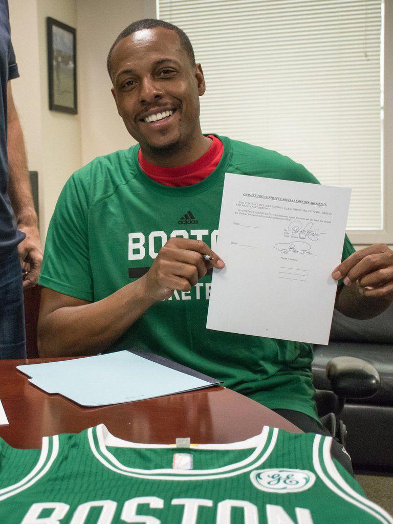 Paul Pierce signe aux Boston Celtics !