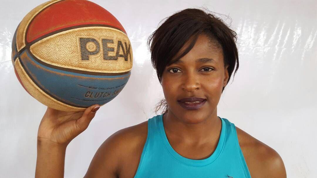 Gabriella Guegbelet, joueuse cadre de l'équipe nationale centrafricaine.