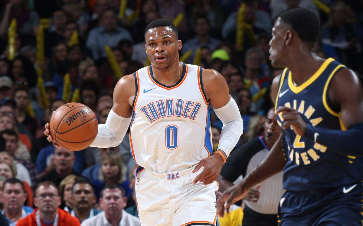 Russell Westbrook valide un second triple-double en guidant le Thunder face aux Pacers