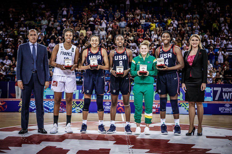 Jordan Horston  élue MVP de la Coupe du Monde féminine U17 FIBA 2018