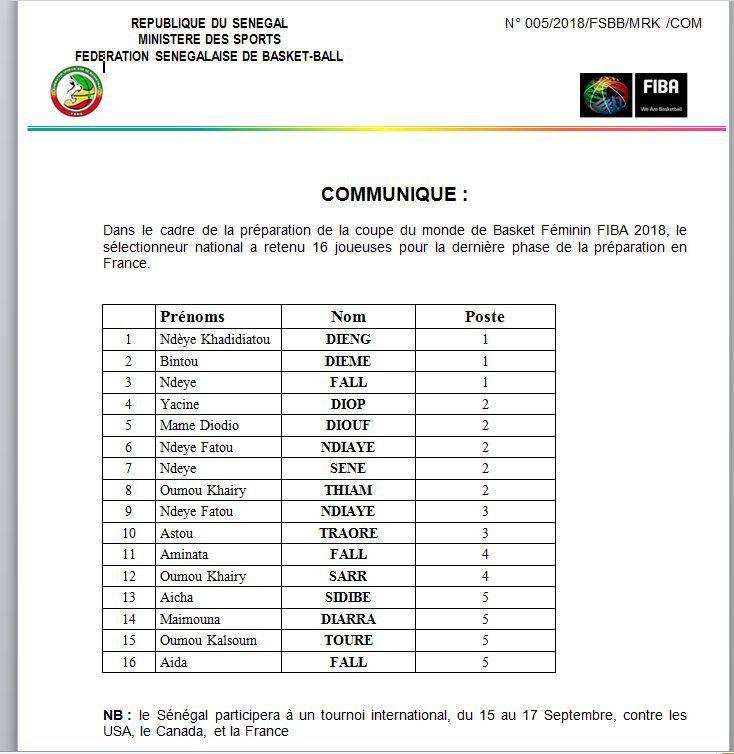 Les Lionnes du Sénégal reçoivent le drapeau ce jeudi, Cheikh Sarr réduit sa liste à 16 joueuses
