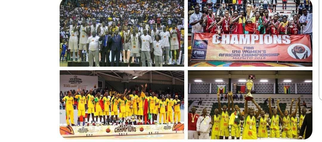 De 2017 à 2018, le Mali c'est ça ! 4 titres de Champion d'Afrique toutes catégories (U16 et U18)