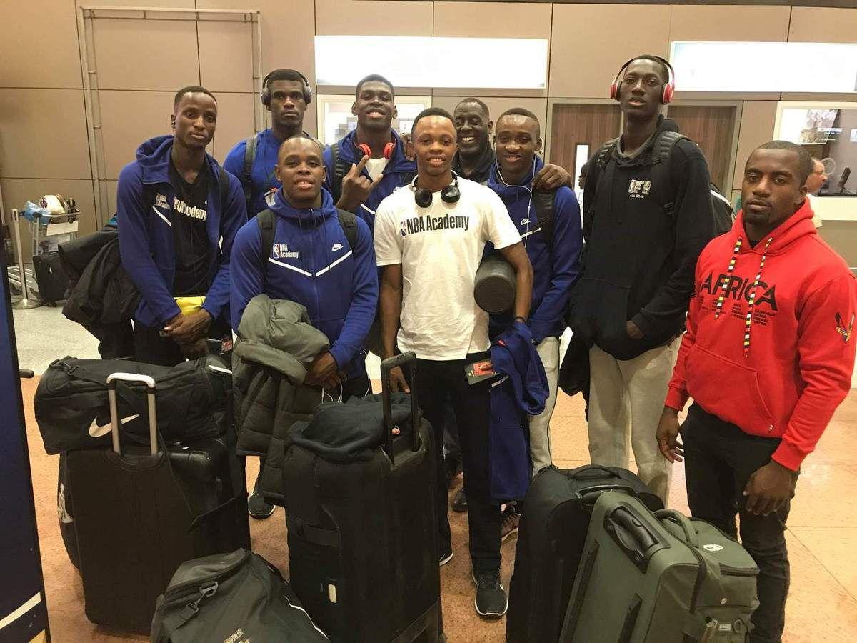La délégation de la NBA Academy Africa en route pour Las Vegas