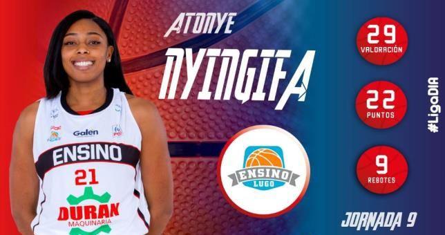 Liga DIA : Atonye Nyingifa élue MVP de la journée pour la deuxième fois